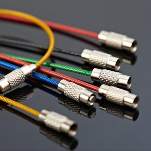 Anello portachiavi a catena chiave a catena chiave a catena chiave a catena chiave dell'acciaio inossidabile 10Pcs