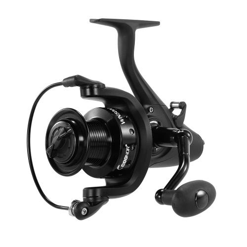WN5000 11 + 1 rodamientos de bolas Spinning Fishing Reel 5.1: 1 carrete de pesca de la rueda de la pesca con la manija plegable intercambiable intercambiable izquierda / derecha