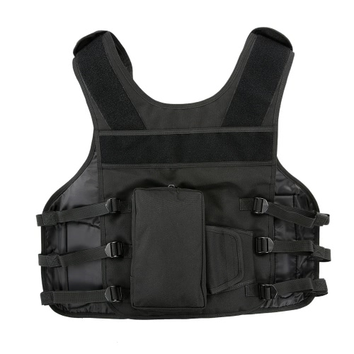 Men's Outdoor Hunting Vest Adjustable Combat Training Vest with Holster and Magazine Pouch