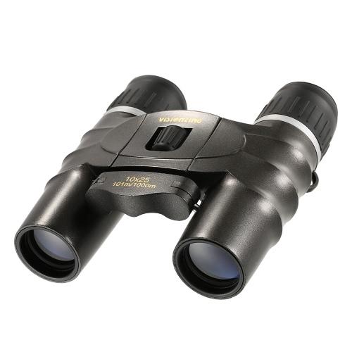 Visionking Prismáticos de alta definición 10x25 Telescopio binocular plegable compacto portátil Observación de pájaros al aire libre Viajar Excursiones Caza