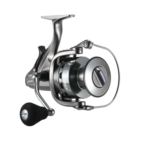 Pesca de la Carpa Spinning Reel 4.3: 1 / 6.3: 1Two-Speed ​​Gear Ratio 10 + 1BB Arrastrar Arrastrar Frente y Trasero