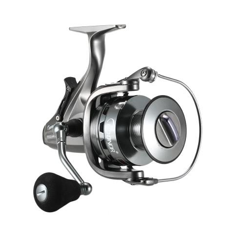 Pesca de la Carpa Spinning Reel 4.3: 1 / 6.3: 1Two-Speed Gear Ratio 10 + 1BB Arrastrar Arrastrar Frente y Trasero