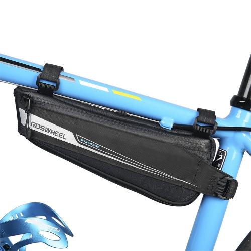 Bici de la bici Ciclismo Triángulo de la bolsa de marco Triángulo Bolsa de sillín Portátil Marco de la silla de montar Bolsa Paquete de bicicleta Ciclismo Bolsa de almacenamiento