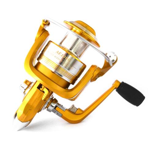 Cuscinetti a sfere 12 + 1BB 5.2: 1 Lega leggera Spinning Bobina da pesca Bracci in alluminio Bracci per maniglie pieghevoli Tackle per pesca 1000 3000 4000 5000 6000 Series