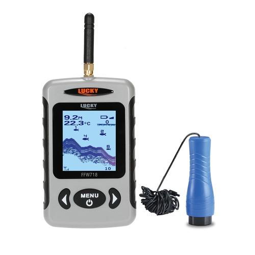 """LUCKY FF718D-Ice 2.2 """"LCD portátil Buscador de peces al aire libre 200KHz / 83KHz Dual Sonar Frecuencia 100M Detector de peces para la pesca en el hielo"""