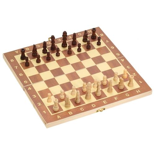 Faltbares hölzernes Schachspiel-internationales Schach-Unterhaltungs-Spiel-Schach-Set-faltendes Brett-pädagogisches Schach