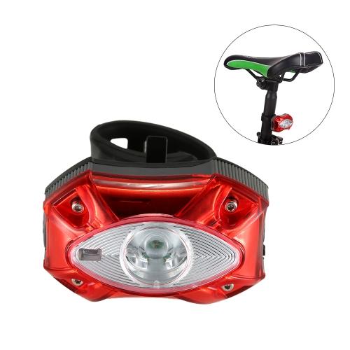 Luz trasera recargable de bicicleta USB