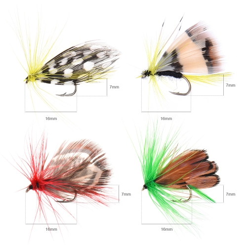 Fly Fishing Flies Kit 20/100pcs Assorted Fly Fishing Lures Hooks with Fly Box Image