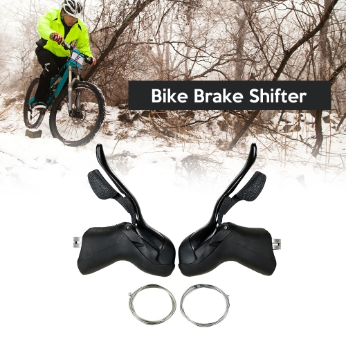 Bike Shifter Lever Front Rear Derailleur Set 7S/8S / 9S / 10S Road Bike Brake Lever with Inner Shift Cable фото
