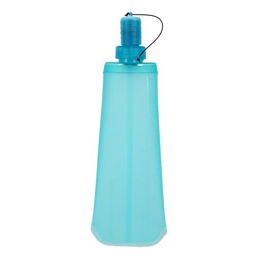 Bottiglia d'acqua di sport della boccetta molle piegante di TPU che esegue la borsa di acqua d'escursione di campeggio della bevanda Bottiglia d'acqua pieghevole della bevanda