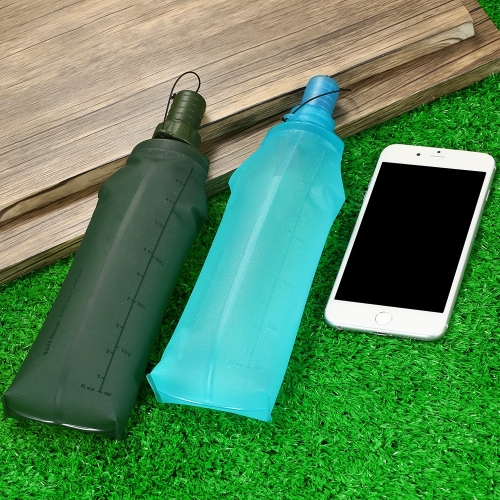 ТПУ Складные Мягкая бутылка Спортивная бутылка воды Запуск Кемпинг Походная сумка для воды Складная бутылка воды для напитков фото