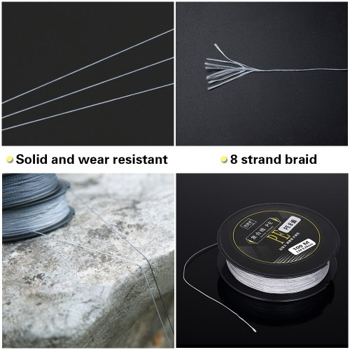 100M Fishing Line Strong Abrasion 8 Strands Braided PE Fishing Line Image