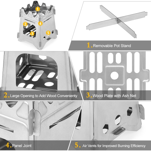 Outdoor Camping Stove For Camping Fishing Hiking