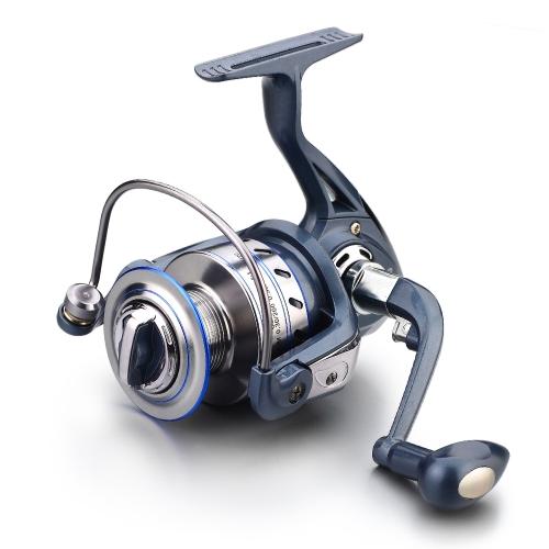 12 + 1 BB Carrete de pesca a la izquierda / derecha Mango plegable intercambiable Pesca Carrete de hilado Ultra Light Smooth Reel