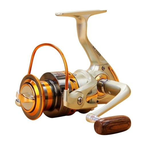 12 BB Carrete de pesca a la izquierda / derecha Mango plegable intercambiable Carrete de pesca a la pesca Ultra ligero Carrete liso de pesca de roca