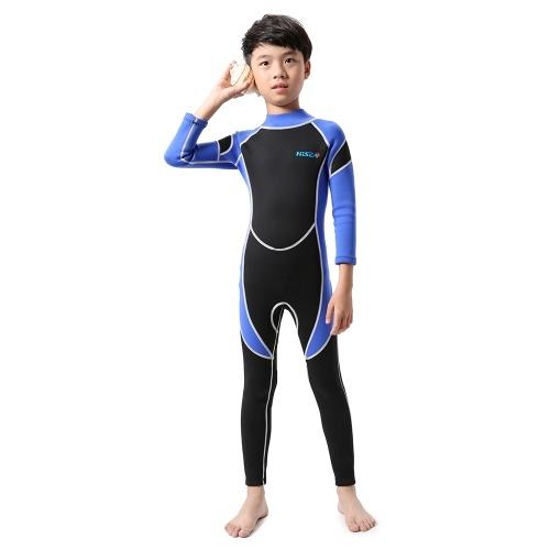 Muta neoprene per immersione subacquea Muta da bagno per bambina Costumi da bagno a maniche lunghe Protezione UV con cerniera posteriore Costumi da bagno