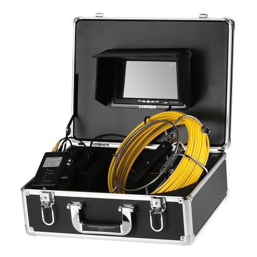 Lixada 20M Cable Drain Pipe Sewer Inspection Camera Waterproof Industrial Endoscope