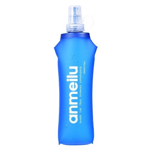 250ML / 500ML TPU Weicher Flaschen-Wasser-im Freiensport-radfahrender laufender Trinkflaschen-Wasserkocher