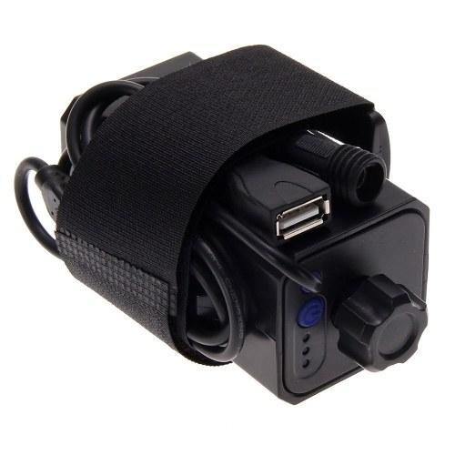 Recarregável Ciclismo de Segurança À Prova D 'Água Bateria Caso Capa da Casa com DC e Interface USB para Ciclismo Bicicleta luz Farol e Telefone Móvel (SEM Bateria)