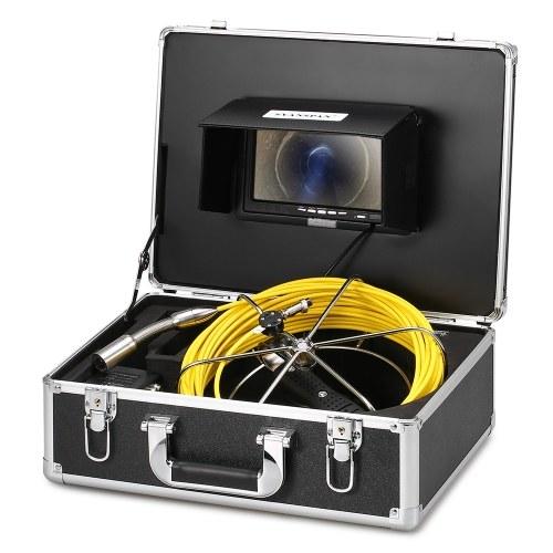 Ablaufrohr-Kanal-Inspektions-Videokamerasystem mit Nachtsicht der Tastatur-12 LED