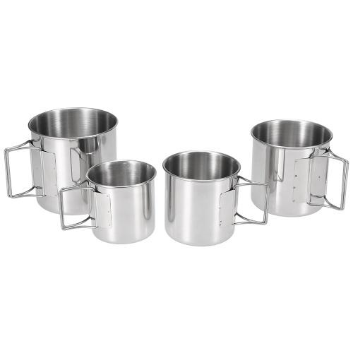 Conjunto de 4 copos de aço inoxidável