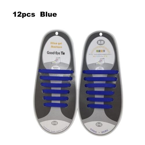 No Tie Lacci delle scarpe Impermeabile elastico in silicone Tieless Shoe Lace