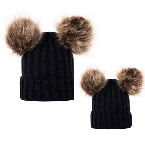 Winter warme Frauen gestrickte häkeln Wollmütze