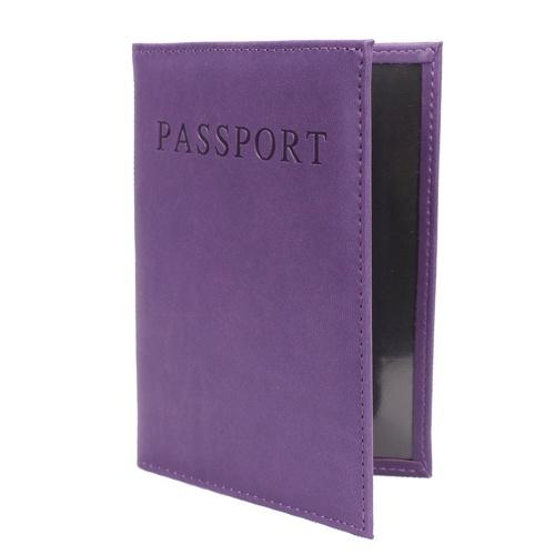 Estuche de cuero para pasaporte