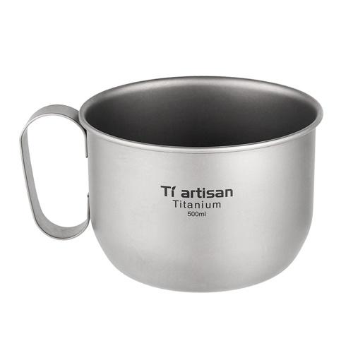 500 мл титановая чашка для воды, кофейная кружка, кемпинг, пеший туризм, походы