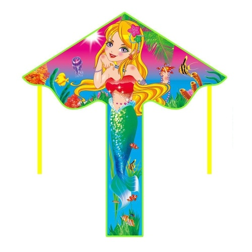 112 x 52 cm linha única colorida papagaio dos desenhos animados para crianças e adultos ao ar livre praia voando pipa com corda de 50 m