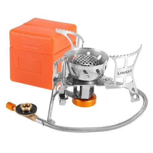 Estufa de gas portátil a prueba de viento que acampa Estufa de cocina al aire libre Hornilla plegable plegable