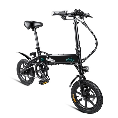 FIIDO D1 14 Inch Folding Power Assist Electric Bicycle(Black) 7.8AH