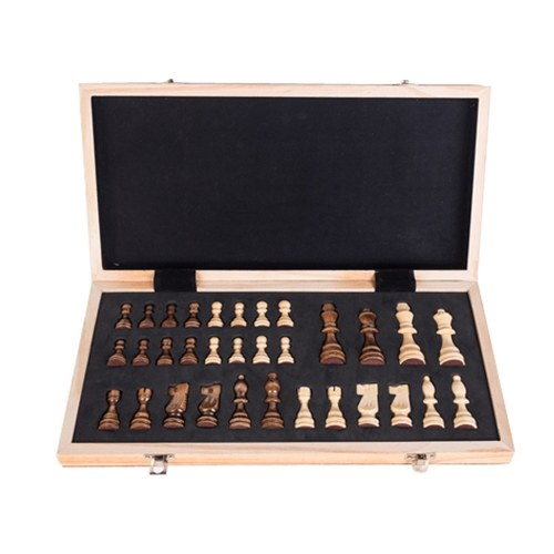 Portable Wooden Magnetic Chessboard Folding Board Chess Game