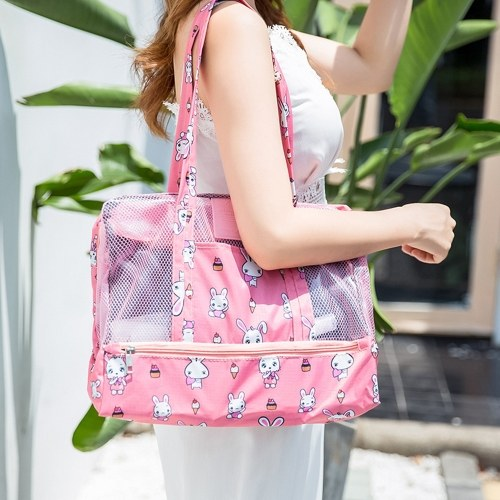 Travel Beach Tote Toiletry Bag Shoulder Handbag