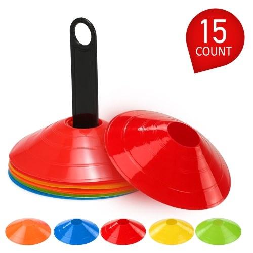 25pcs Agility Disc Cone Set