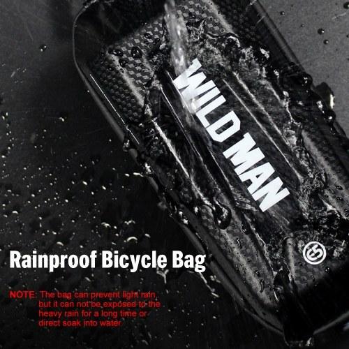 Bike Frame Bag Rainproof Bike Top Tube Bag Bicycle Bag Cycling Frame Pack with Double Zipper Design Image