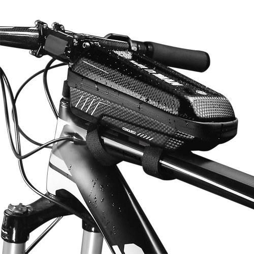 Saco de quadro de bicicleta à prova de chuva bicicleta superior tubo saco de bicicleta ciclismo pacote de quadro com design de zíper duplo