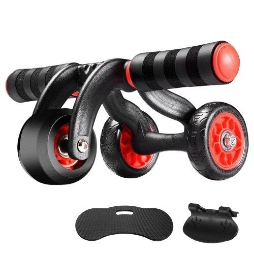 3 Wheels Ab Roller Wheel Automatic Rebound Workout Roller