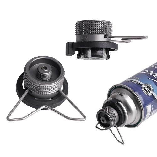 Adaptateur de butane avec adaptateur de conversion de tête de cartouche de gaz à support stable