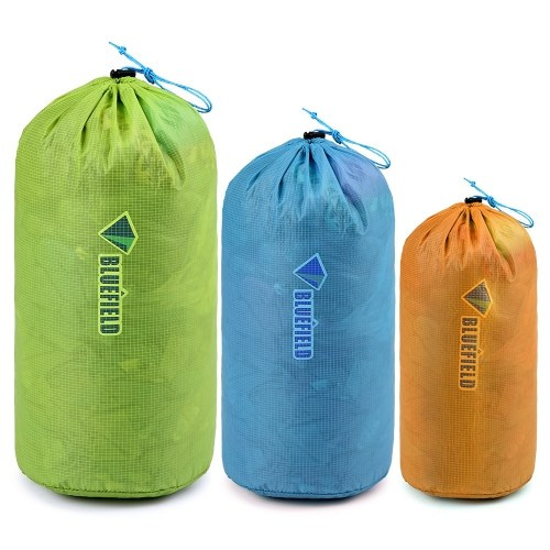 3pcs 15D Nylon Ultralight Outdoor Drawstring Bag