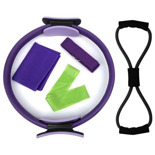 5pcs Yoga Equipment Set Pilates Ring Yoga Correa de algodón