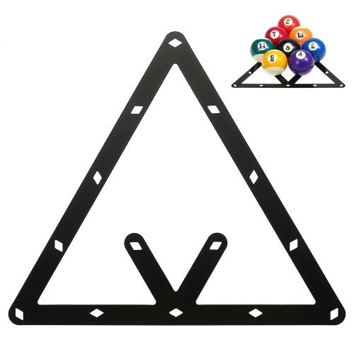 6 PCS Rack de Bola Rack de Bilhar Folha Rack de Bola Cue Triângulo Acessório de Bola 8/9/10 Pacote Combinado de Bola