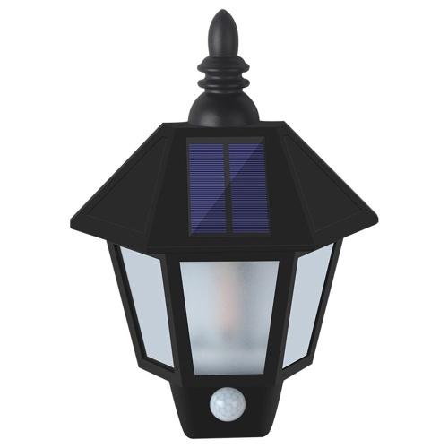 Wasserfeste Wandlaterne im Freien Leichte Solarlampe Drahtlose Bewegungssensorleuchten LED für Gartenhof Veranda Keller