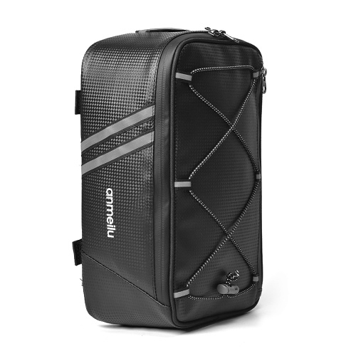 Bike Trunk Bag 7L Bicycle Rear Bag Water Resistant Bike Rack Bag with Waterproof Rain Cover Image