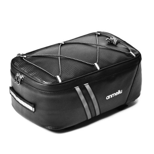 Bolsa de bagagem de bicicleta 7L Bolsa traseira para bicicleta resistente à água Bolsa de suporte para bicicleta com capa de chuva à prova d'água