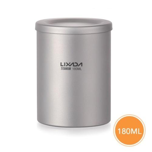 Bule de titânio para cafeteira Lixada de parede dupla de 180 ml com infusor e tampa removíveis