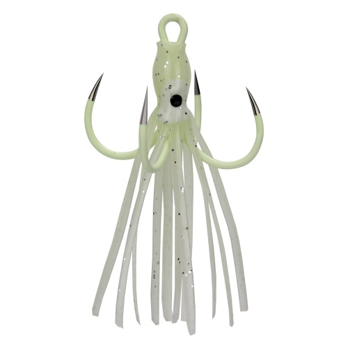 Luminous Four Claw Hooks Octopus Squid Lures for Bass