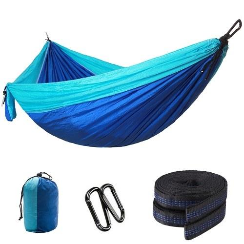 Single Camping Hammock  Lightweight Nylon Parachute Fabric Portable  Cot Bed Hanging