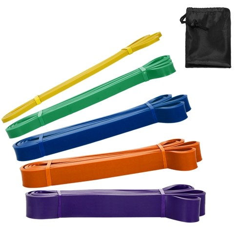 Пакет из 5 комплектов петель сопротивления Набор латексных йога для силовых тренировок Подтягивающие полосы помощи Домашний тренажерный зал Фитнес-тренировки Упругие упражнения с сумкой для переноски