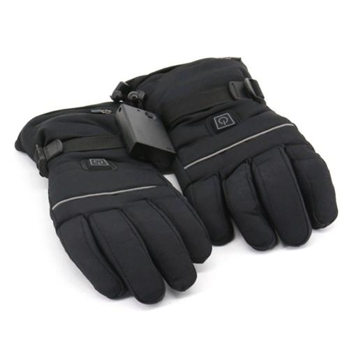 Elektrisch beheizte Handschuhe Drei-Gang-Thermostat zum Skifahren Gehen Wandern Klettern Fahren Fahren bei kaltem Wetter